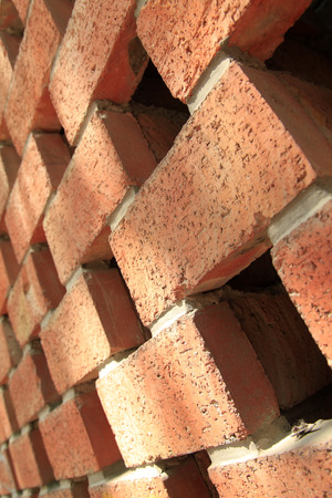 red wall: The red brick wall