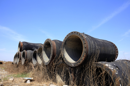 corrosion: The rusty iron pipe
