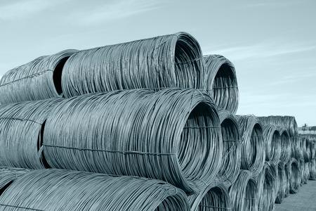 worksite: Steel wire rod Stock Photo