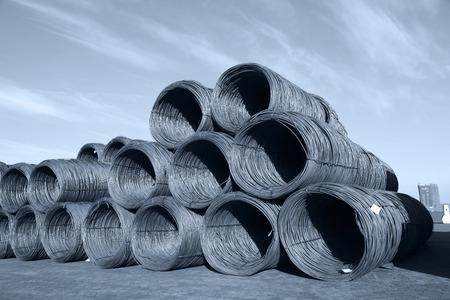 steel wire: Steel wire rod Stock Photo
