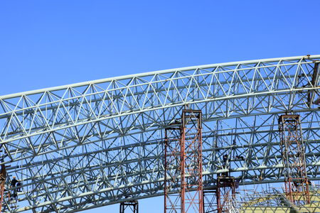 concreting: The construction of steel structure