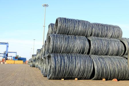 round rods: Steel wire rod Stock Photo