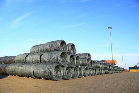concreting: Steel wire rod Stock Photo