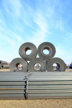 Strip steel and channel steel