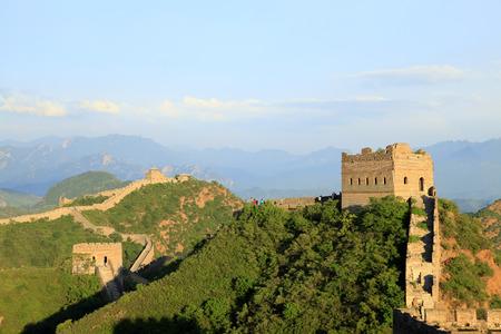 bulwark: The Great Wall in China Stock Photo