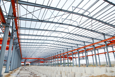 steel structure: In the construction site, steel structure is under construction