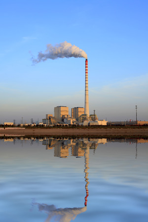 tall chimney: Thermal power plant Editorial