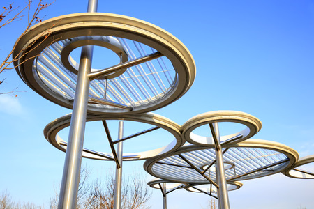 The steel structure of the landscape