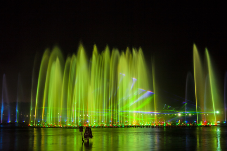 Music fountain at night Editorial
