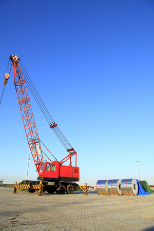 Cranes and strip steel