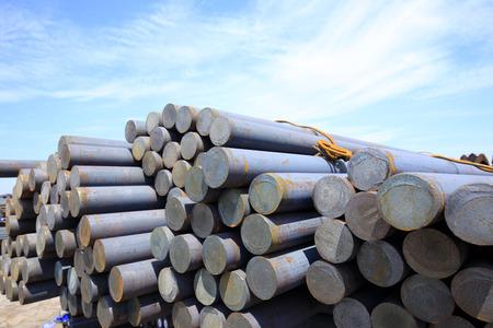 round: Stack of round steel bar