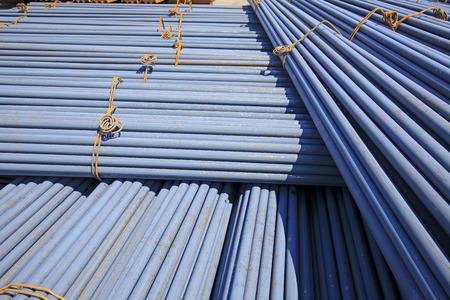 round rods: Stack of round steel bar