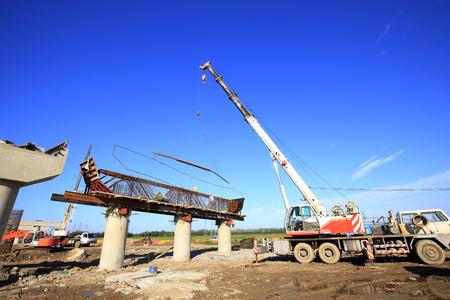 El puente está en construcción Foto de archivo