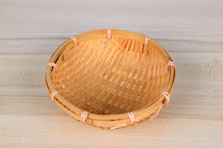 Woven items on white background