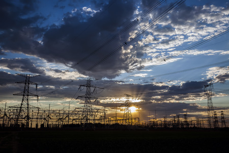 isolator: Landscape view of pylon during the dusk