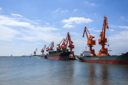 cargo berth Stock Photo