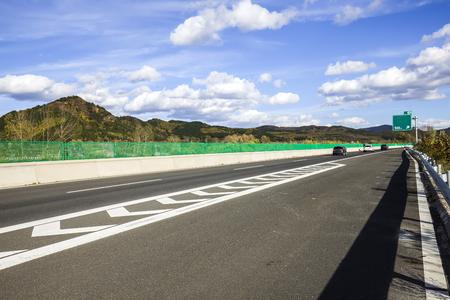 In autumn, highway landscape