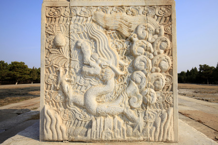 craft on marble: The ancient Chinese stone carving