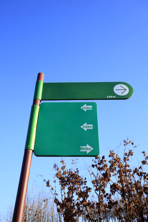 The blank signs in the park