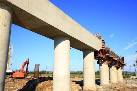 The bridge is under construction