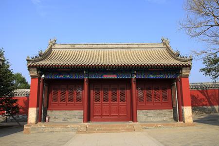 Chinese ancient temple architecture, auspicious, solemn