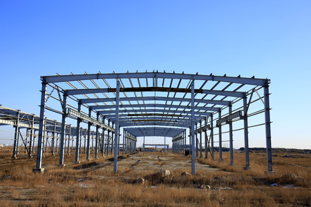 construction of steel structure Stock Photo