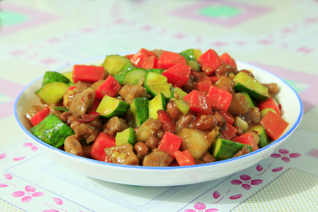 Chinese food, kung pao chicken