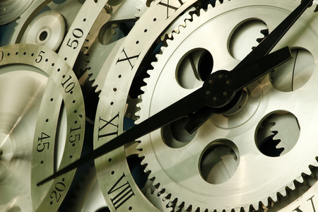 horologe: Rotating clock, close-up Stock Photo