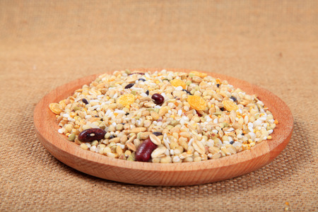 granule: Cereal grains , seeds and beans close up view