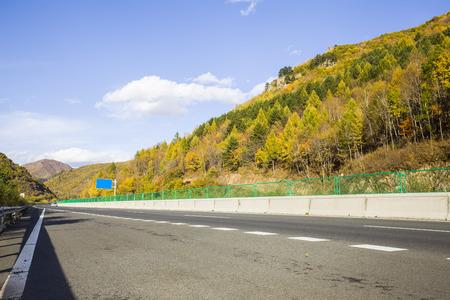 Asphalt highway landscape scenery view
