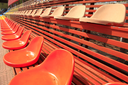 The stadium chairs Stock Photo