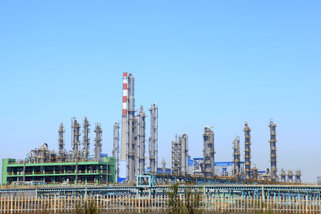 destilacion: Vista del paisaje de la planta química