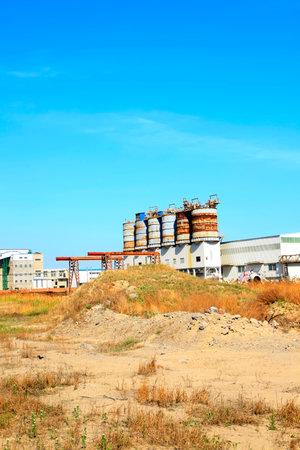Chemical plant landscape view