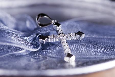 Silver jewelry, symbolizing auspiciousness Stock Photo