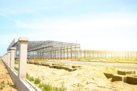 Landscape view of a construction site Editorial