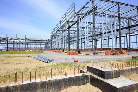 Landscape view of a construction site Stock Photo