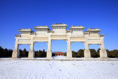 Chinese ancient stone arch Editorial