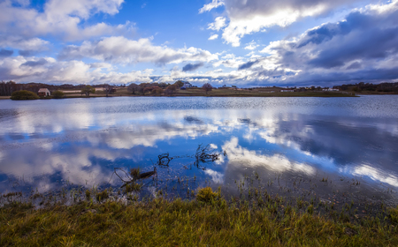 The beauty of the lake and the cloudland Stock Photo