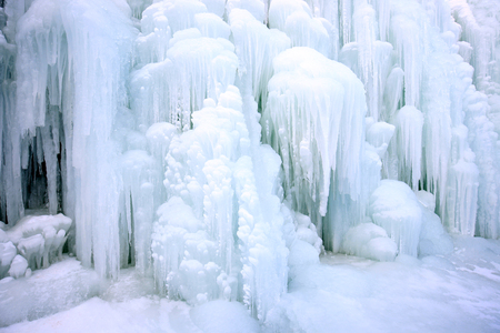 Waterfall formed icicle
