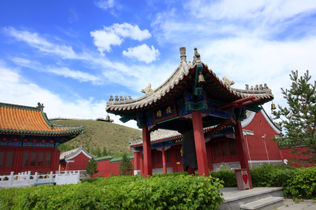 Chinese temples building