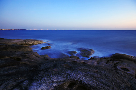 The evening scenery of the sea