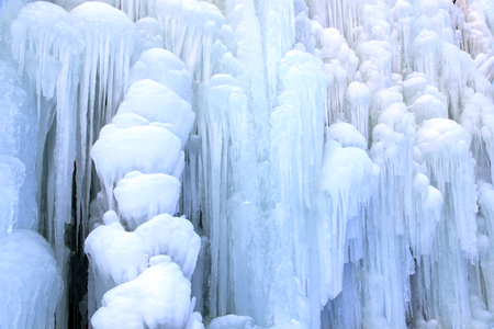 Ice waterfall