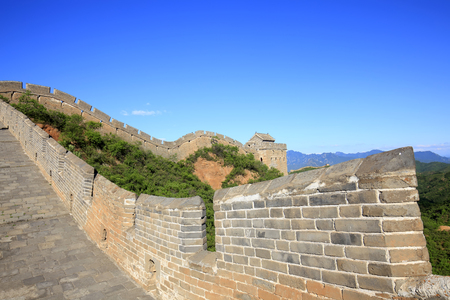 Landscape view of the Great Wall in China Stock Photo