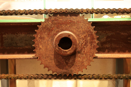 The gears of the rust, close-up