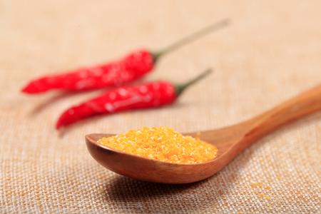 Corn flour, close-up