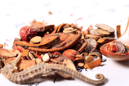 Chinese herbal medicine, Chinese traditional culture, studio shot