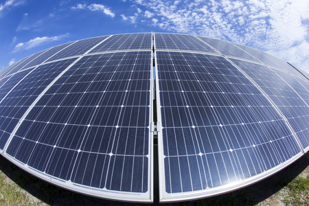 Solar photovoltaic panels and solar photovoltaic power generation systems 免版税图像