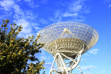 The observatory's radio telescope