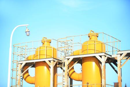 Oilfield equipment, oil field landscape