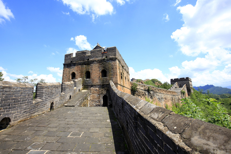 The Great Wall is under the blue sky and white clouds Stock fotó - 120773305